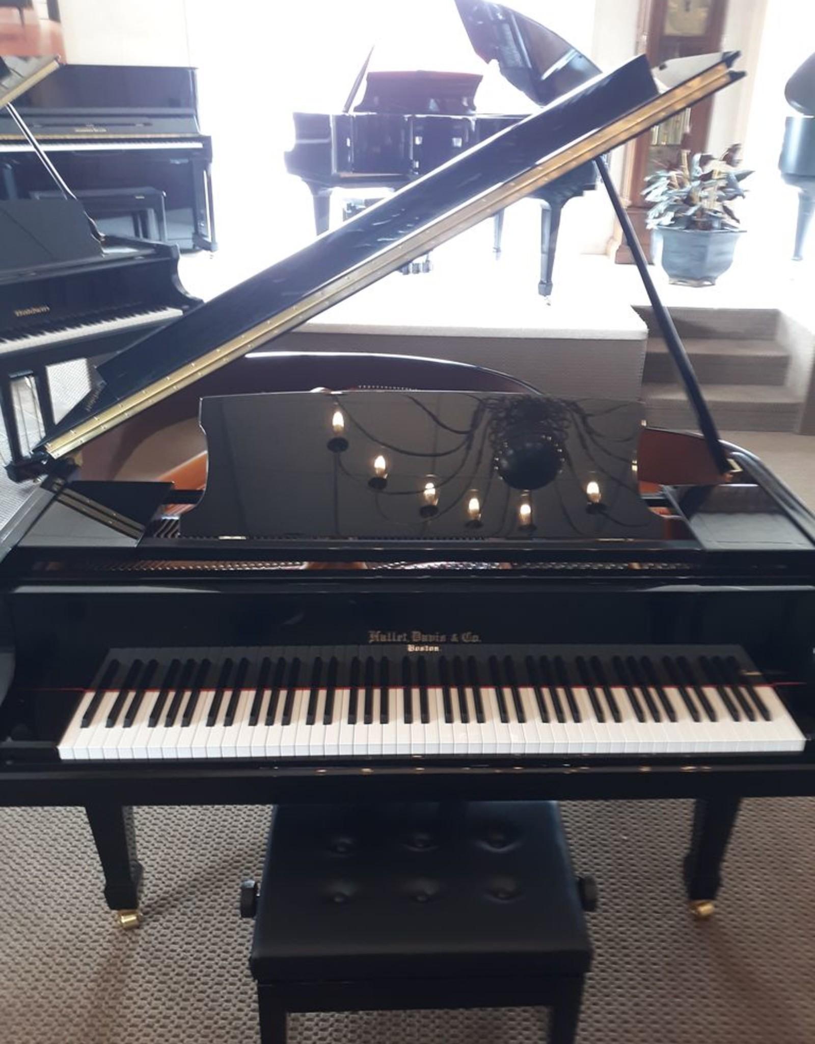 """Hallet Davis & Co. Hallet, Davis and Co HS148  4'10""""  Contemporary Grand Piano (High Polish Ebony with Mahogony Inner Rim)"""