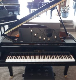 "Hallet Davis & Co. Hallet, Davis and Co HS148  4'10""  Contemporary Grand Piano (High Polish Ebony with Mahogony Inner Rim)"