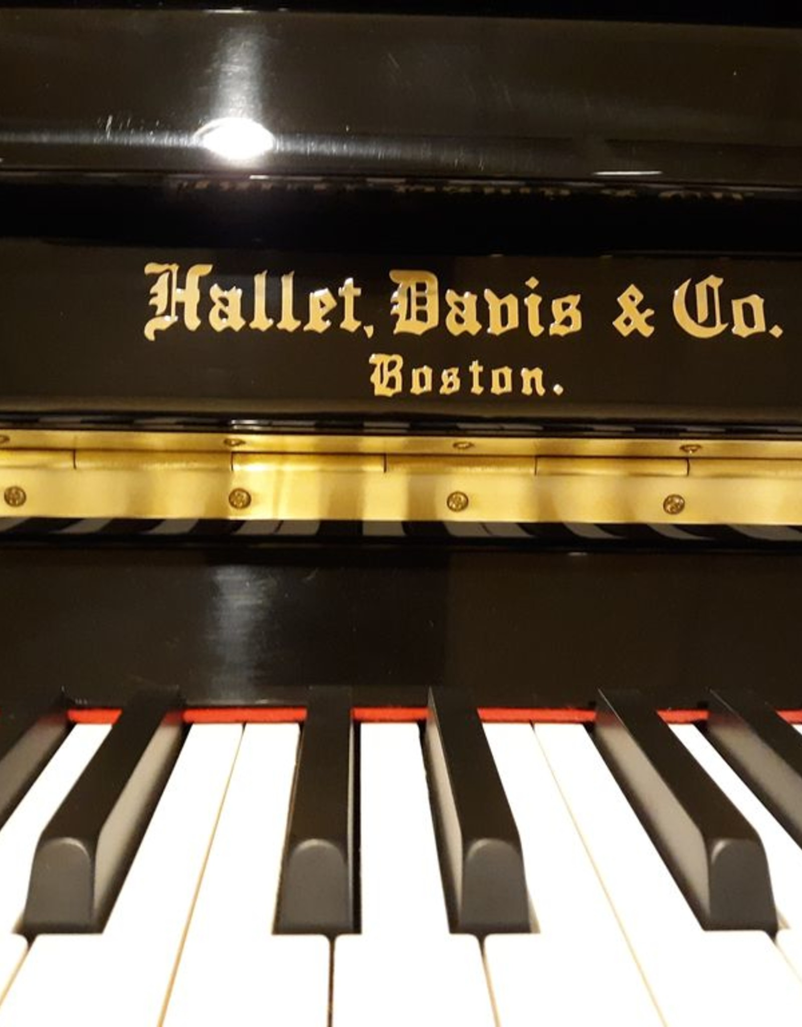"Hallet Davis & Co. Hallet, Davis and Co. HS118M 46.5"" Traditional Upright Vertical Piano (High Polish Ebony)"
