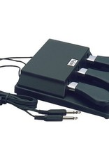 Studiologic VFP-3-10 Triple Piano-Style Open Polarity Sustain Pedal with Mono and Stereo Connector, for Keyboards