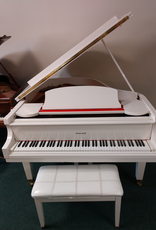 """Howard C171 5'8"""" Grand Piano (White) (pre-owned)"""