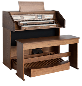 Clavis Content Clavis 224 R/D 2 Manual  Home Organ with Real Wood Case and Pedals(Oak)
