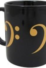 Coffee Mug - Black & Gold Series - Bass Clef