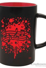 Coffee Mug - Note Burst (Red)