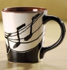 Coffee Mug - Small Latte Music Notes