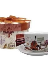 Teacup & Saucer w/Gift Box