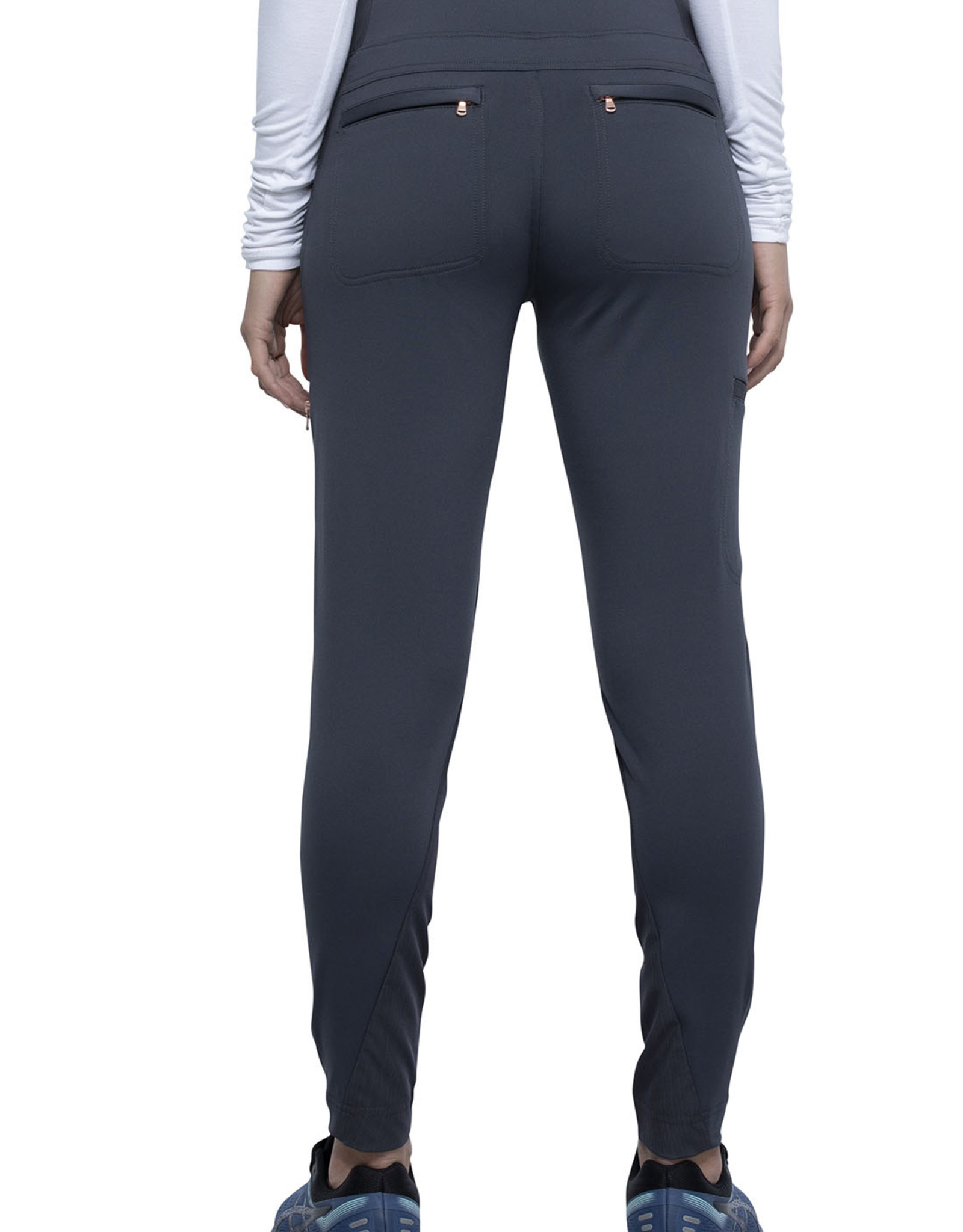 Statement Mid-Rise Tapered Leg Pull-on Pant
