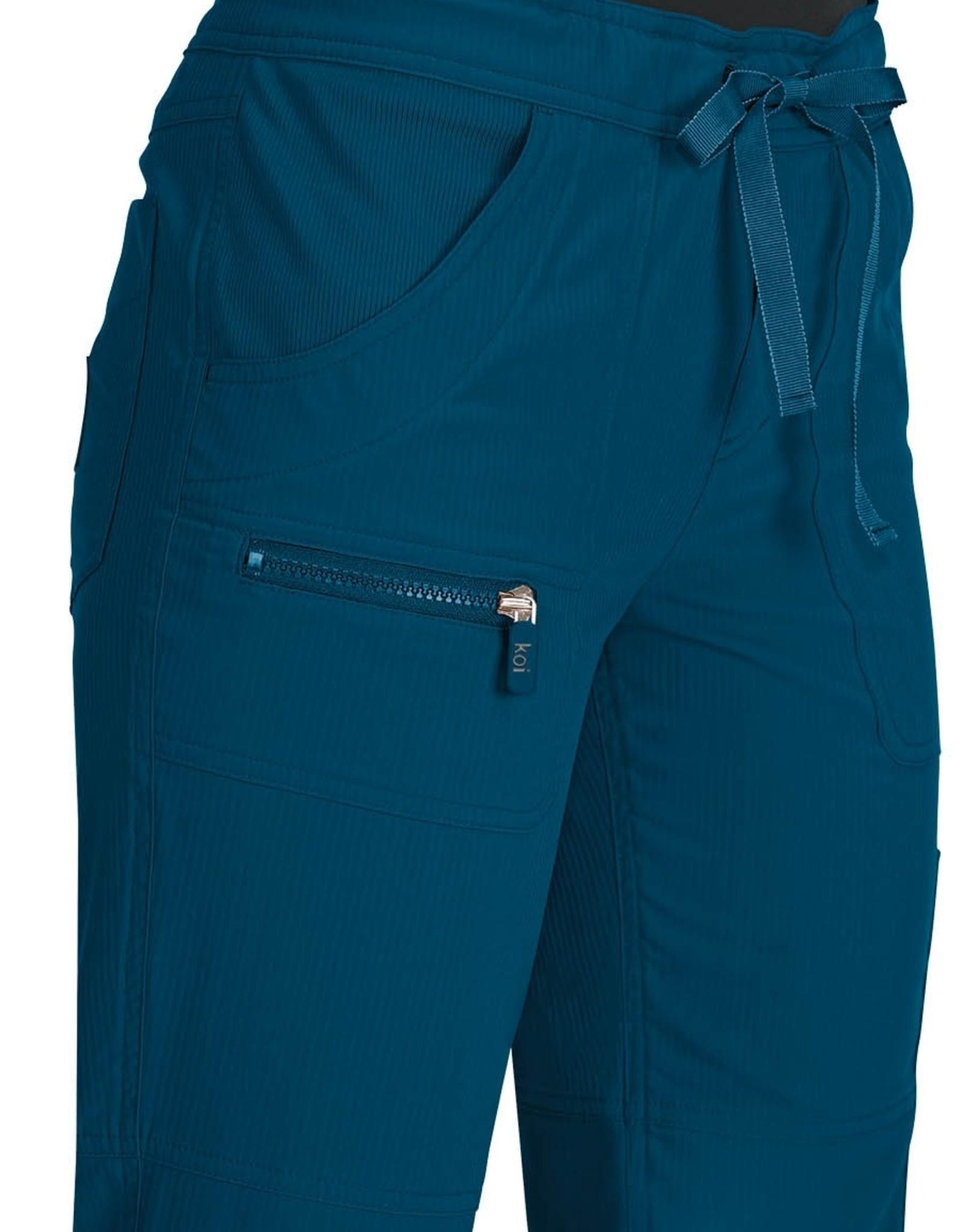 Koi Lite Koi Peace Pant Carribean Blue