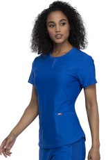 Cherokee Form CK841 FORM Round Neck Top Royal