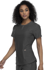 Cherokee Form CK841 FORM Round Neck Top Pewter