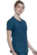 Cherokee Form CK841 FORM Round Neck Top Carribean