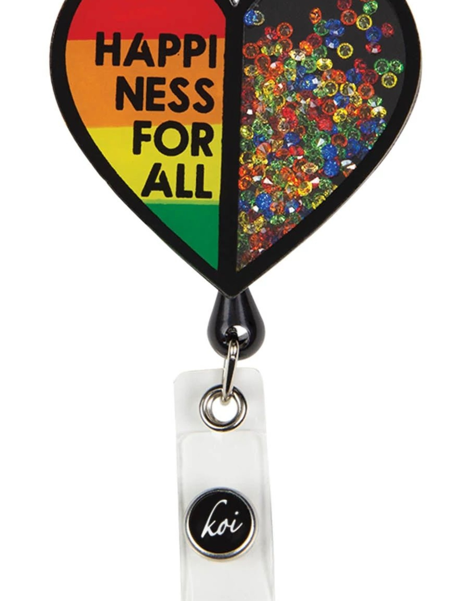 Koi  Name Badge A156 Happiness