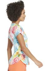 HeartSoul HS685 Round Neck Tie Dye Top