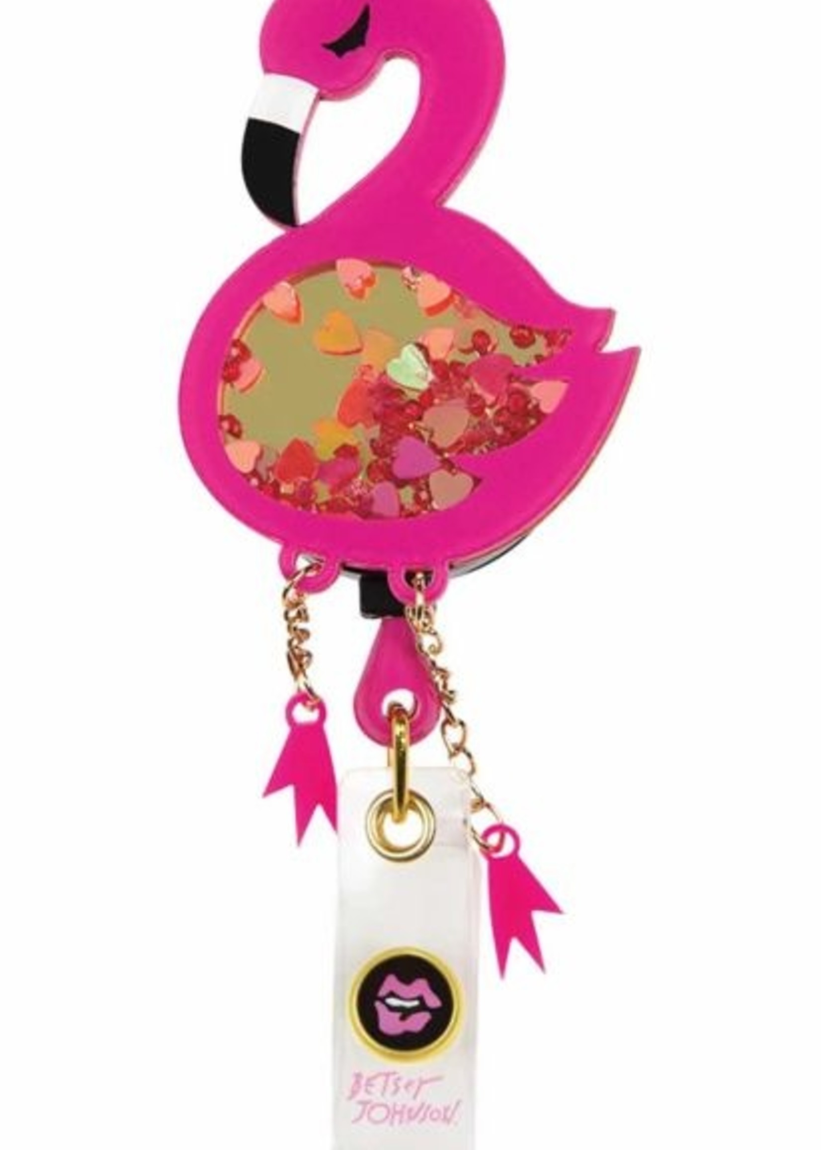 Betsey Johnson Betsey Name Badge A156 Flamingo