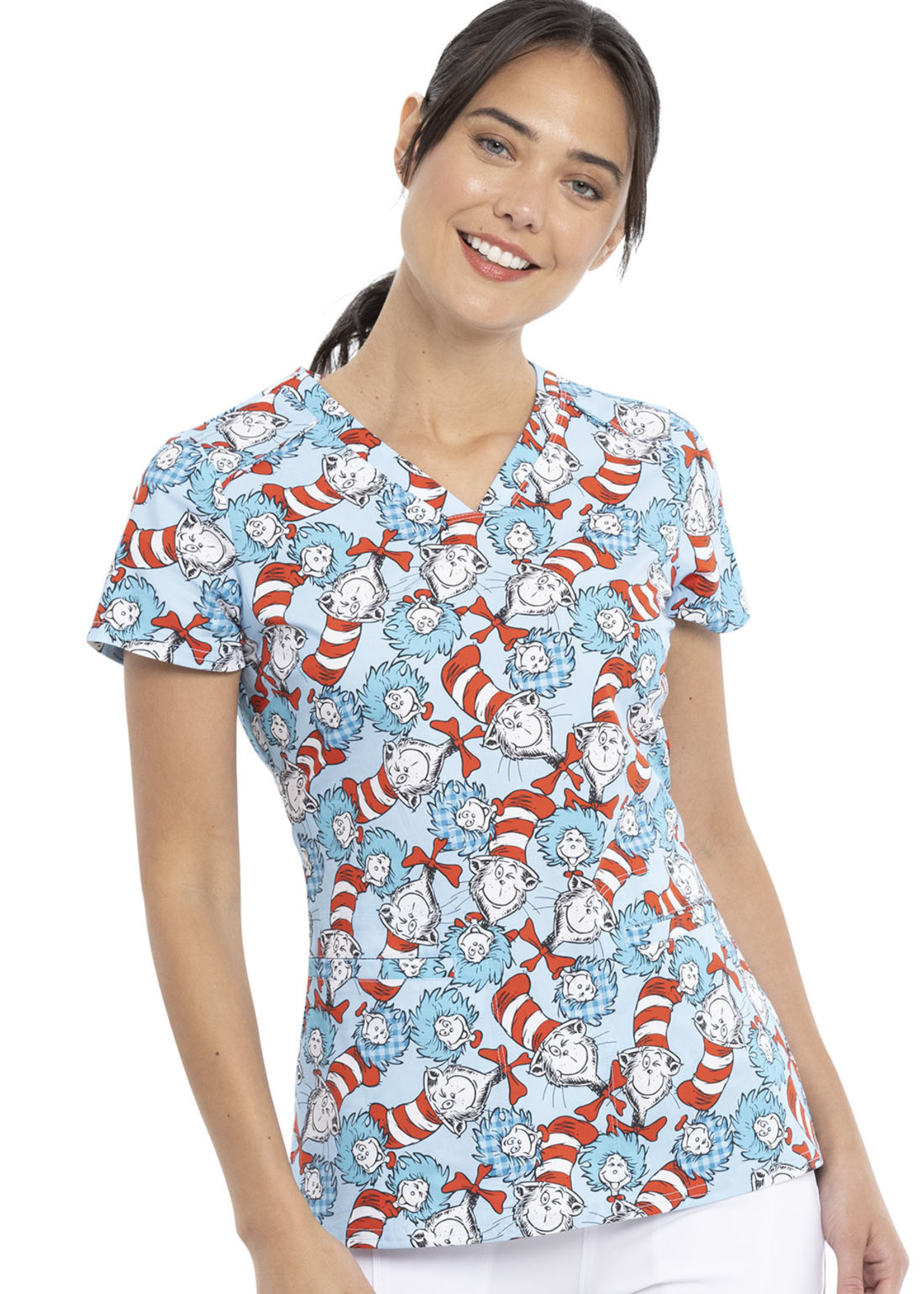 Cherokee Tooniforms TF666 V-Neck Top Some Things