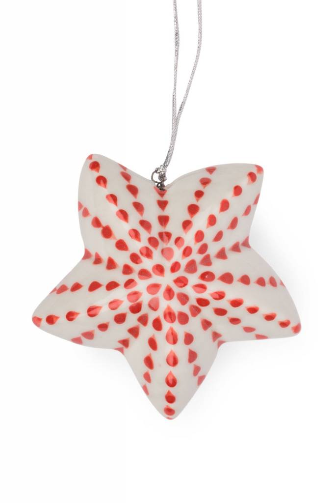 Ornament - Dotted Ceramic Star