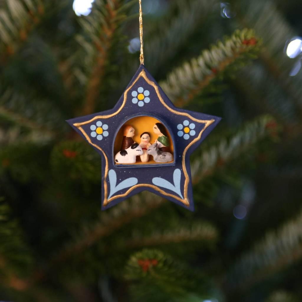 Ornament - Star Nativity