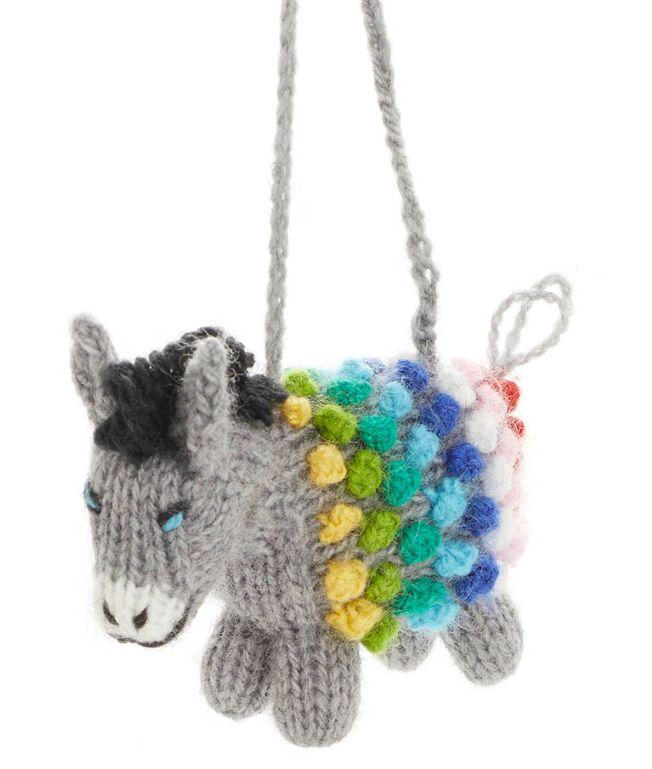 Pom Donkey Ornament
