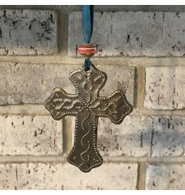 Ornament - Steel Small Cross