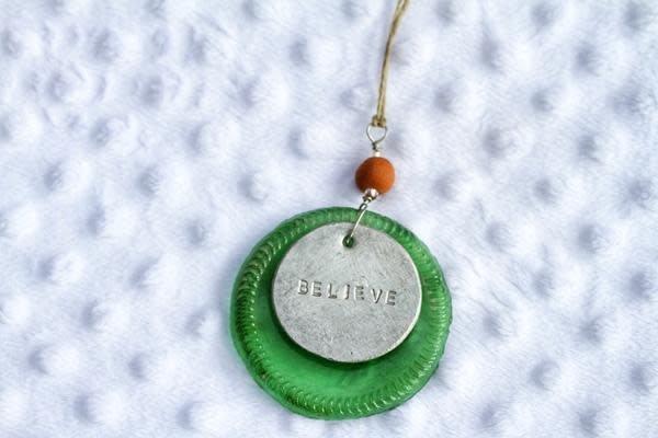 Ornament - Green Believe
