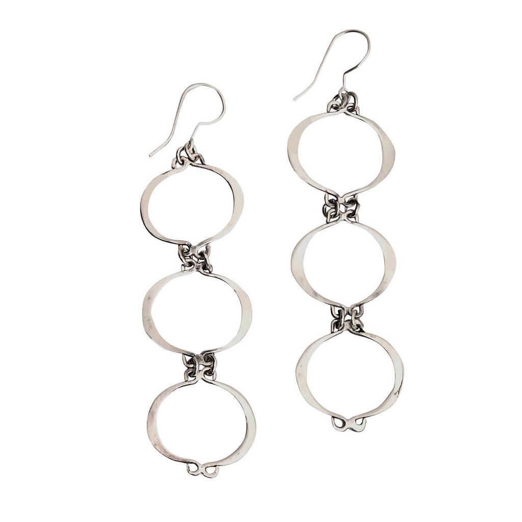 Earrings - 3 Stacked Hoops