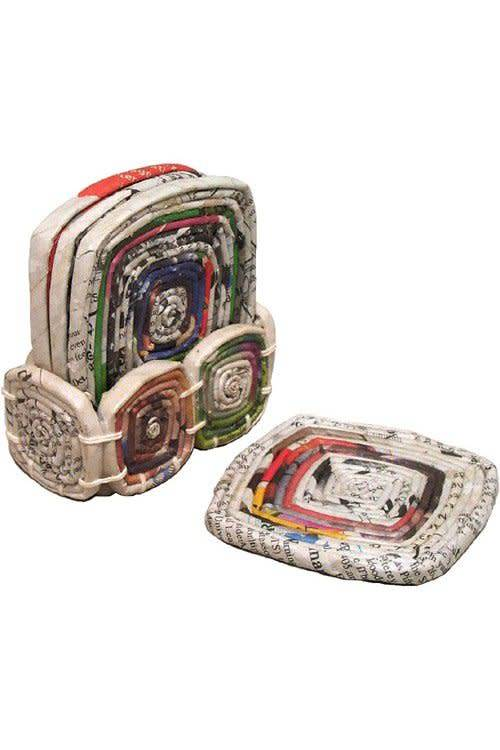 Coasters - Newspaper Coiled