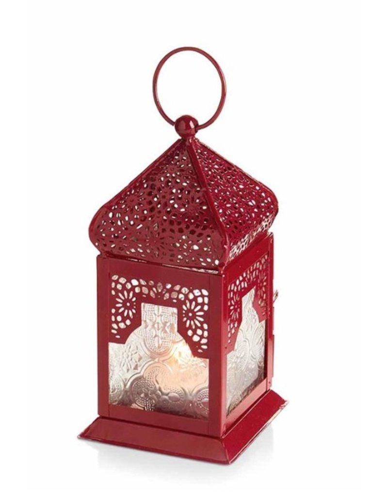 Small Red Moroccan Motif Lantern