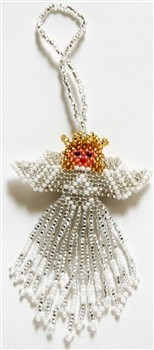 Ornament - Large Angel - White with Blond Hair