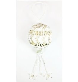 Ornament - White Holiday Ball