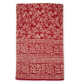 Tablecloth - Red Vines Block Print