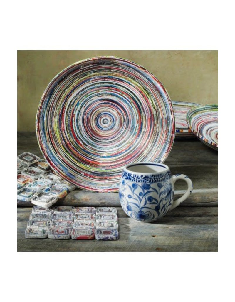 Bowl - Round Coiled Recycled Magazine Paper