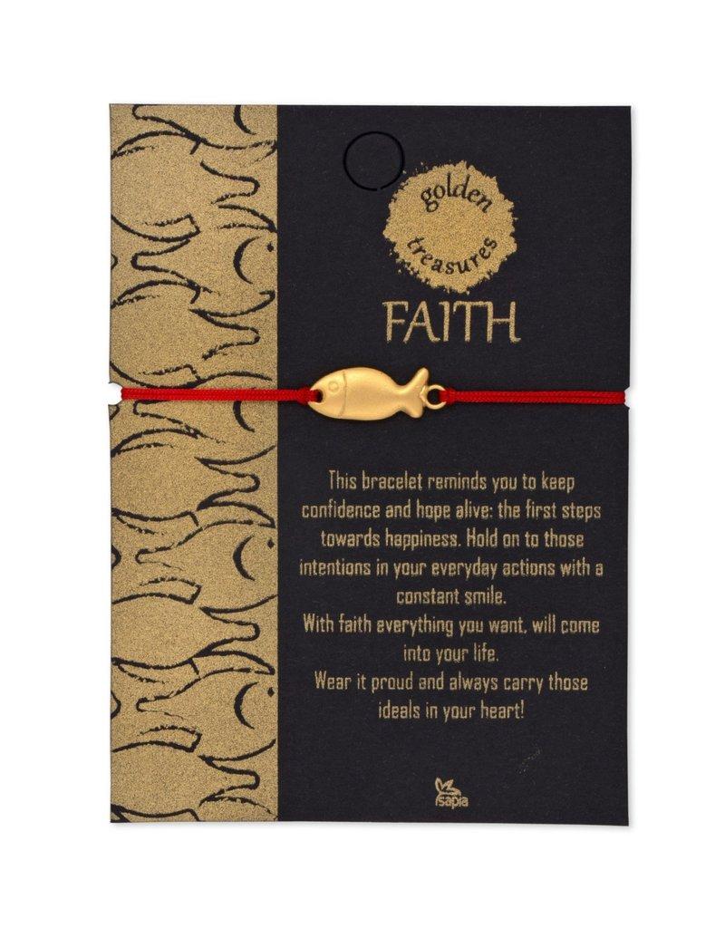 Bracelet - FAITH Fish, Gold
