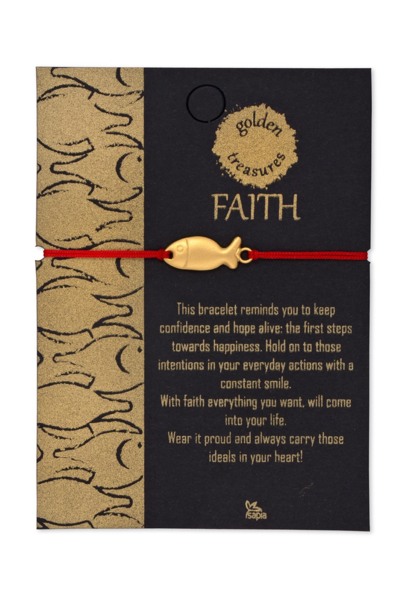 Bracelet - FAITH Fish, Gold
