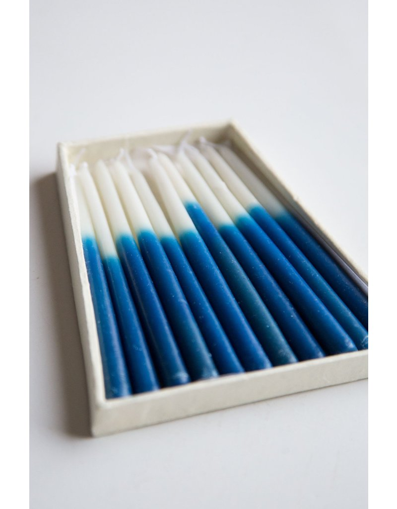 Blue and White Candle Set