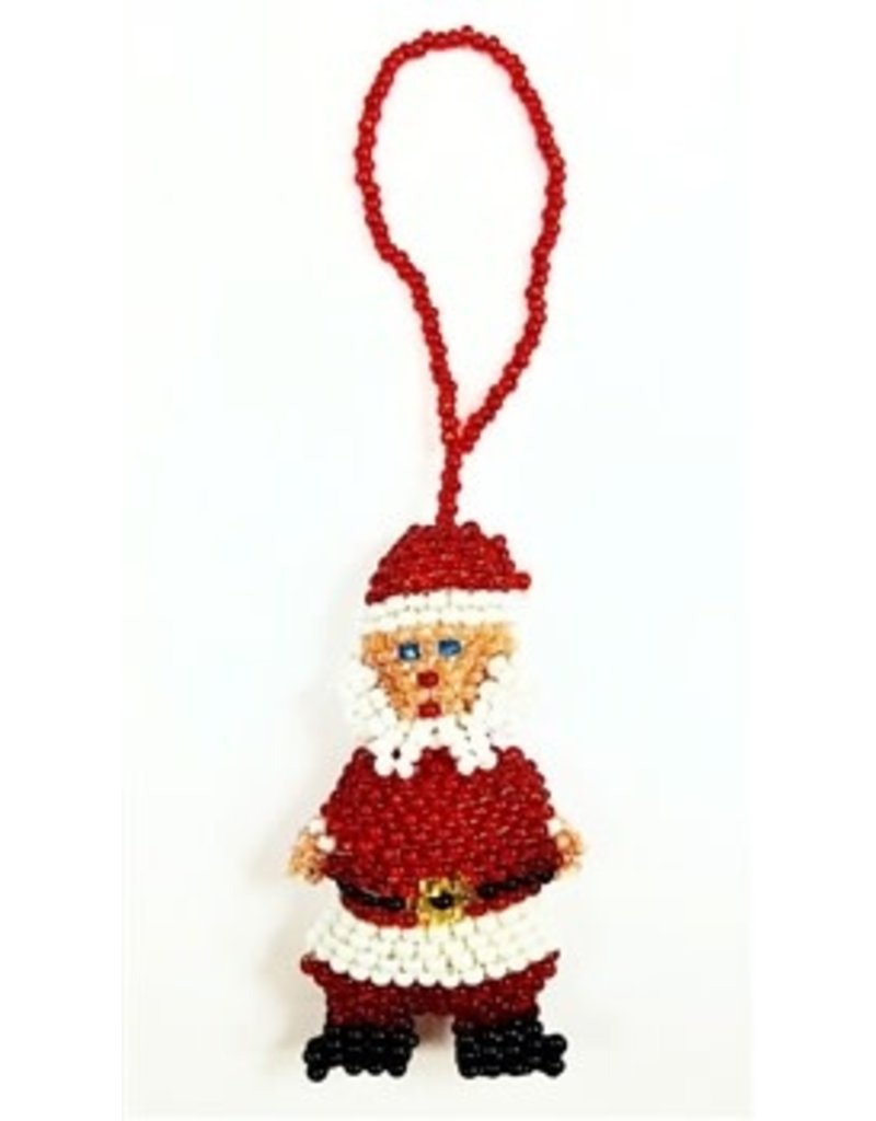Ornament - Beaded Santa