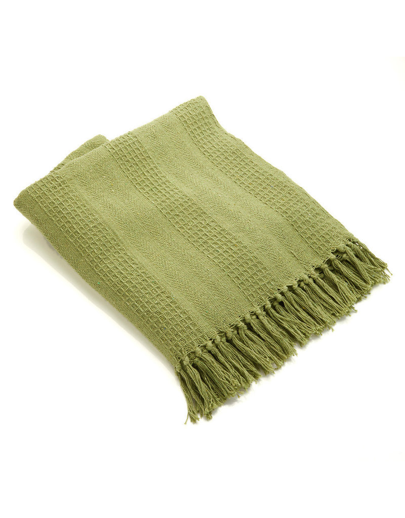 Rethread Throw - Moss Green