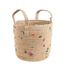 Basket - Bright Bits Jute 10""