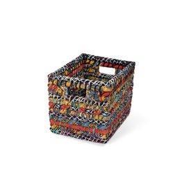 Basket Storage - Recycled Sari Small
