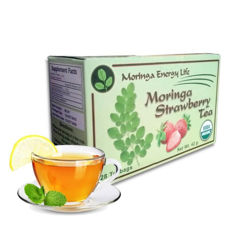 Moringa Strawberry Tea in a Box