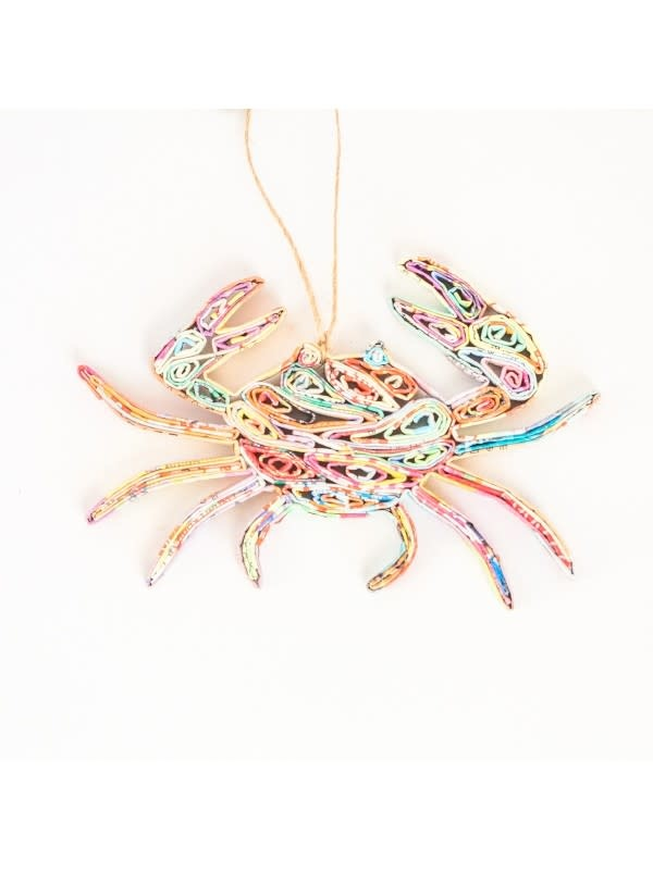 Ornament - Recycled Paper Crab