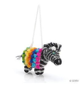 Ornament - Pom Zebra