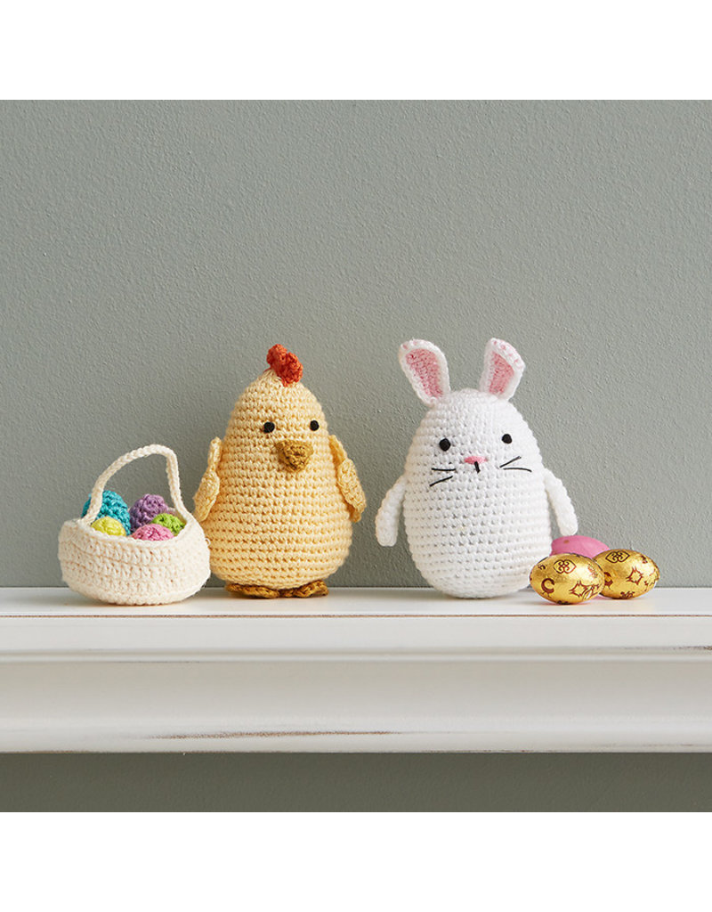 Crocheted Easter Bunny and Chick