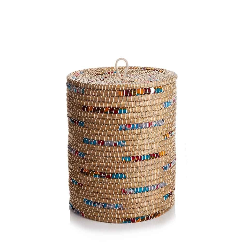 Laundry Basket - Chindi Stripe