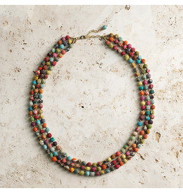 Necklace - Triple Strand Sari