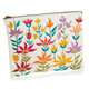 Floral Zipper Pouch - Large
