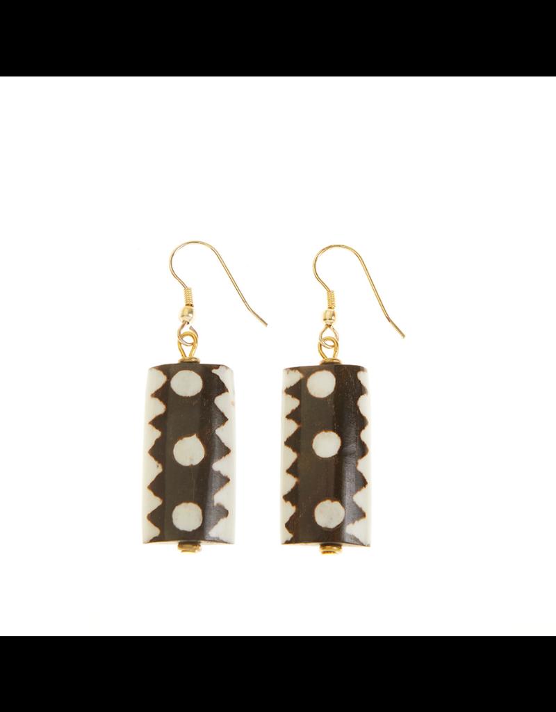 Earrings - African Batik Drop