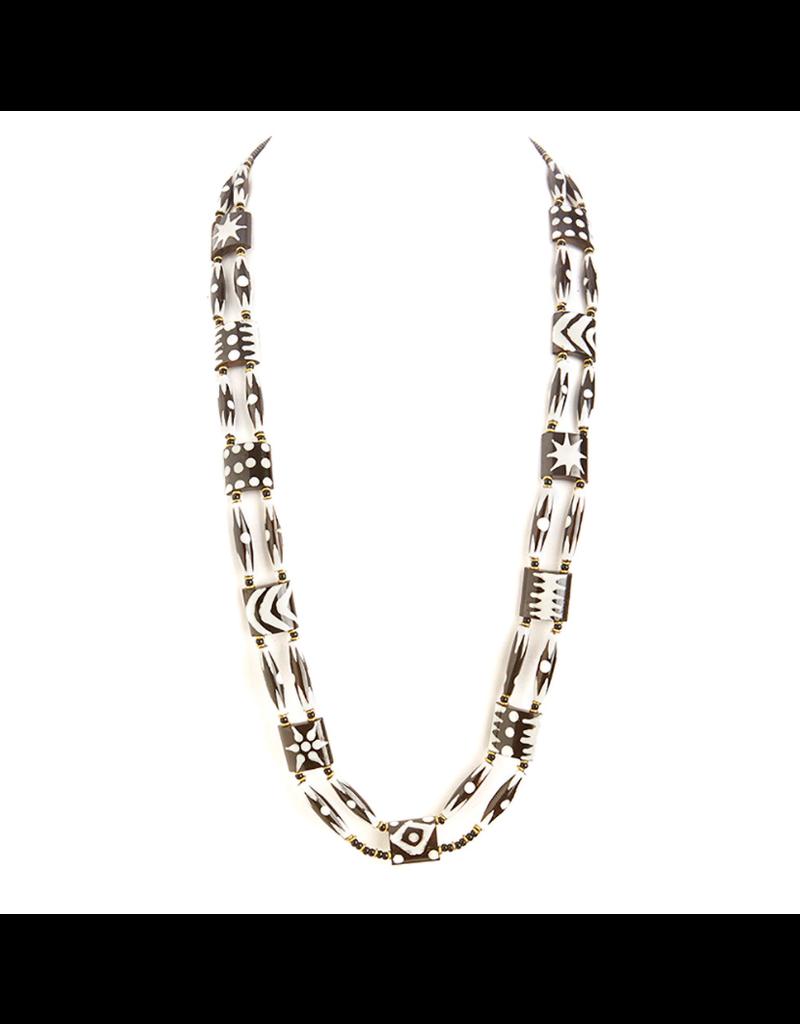 Necklace - African Batik Long