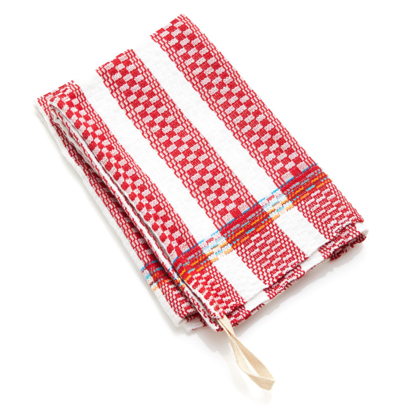 Egyptian Cotton Dish Towel - Red Stripe