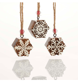 Ornament - Woodblock Snowflake