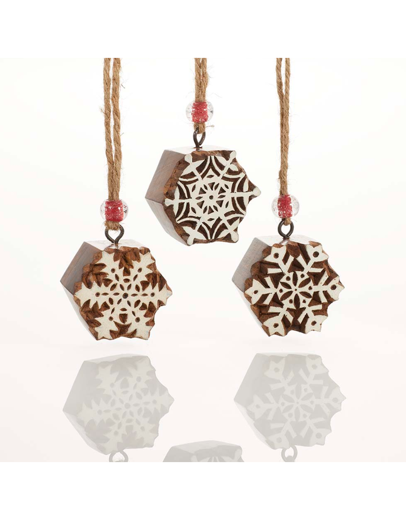Ornament - Woodblock Snowflake